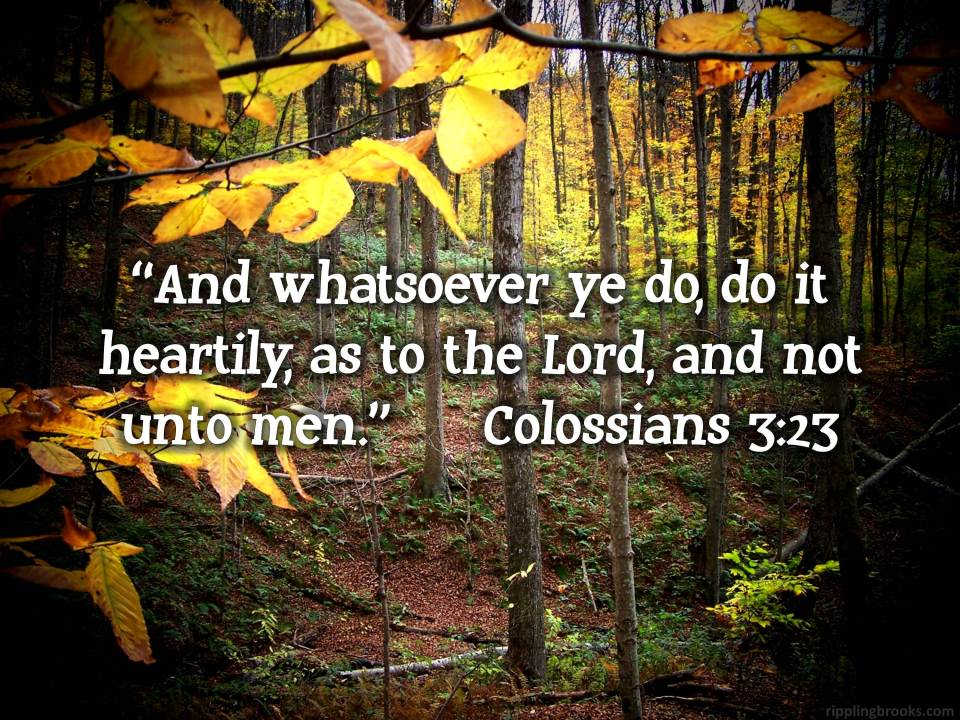 Colossians 3:23