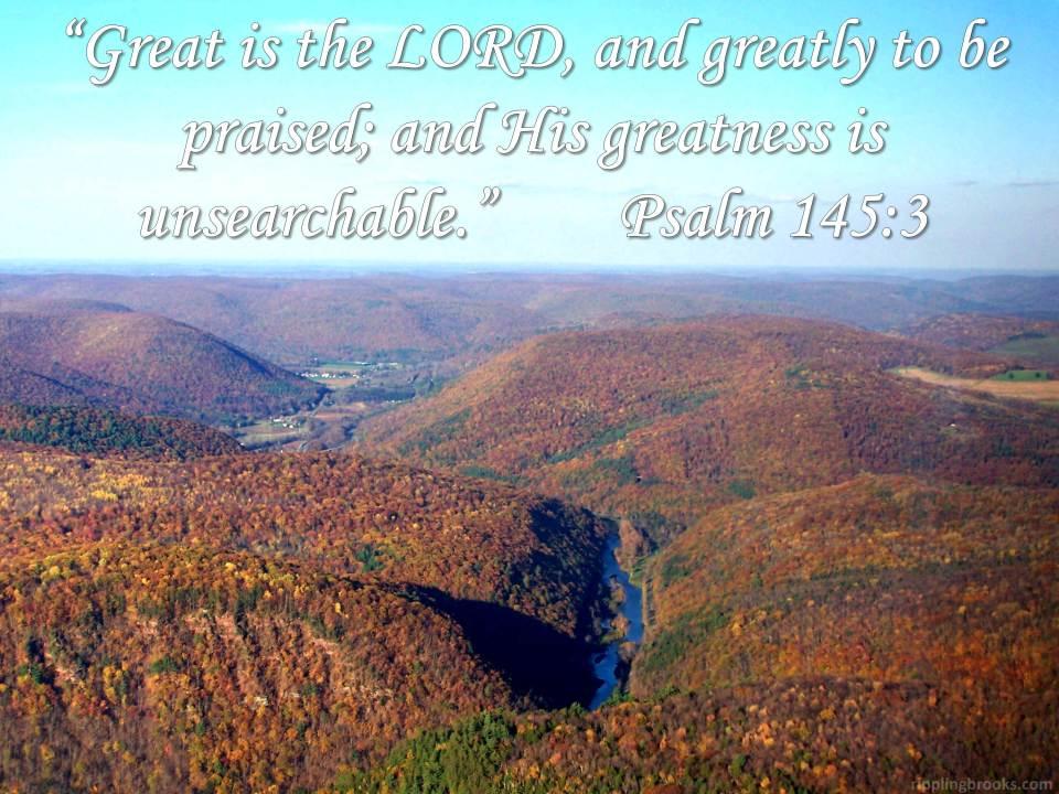 Psalm 145:3