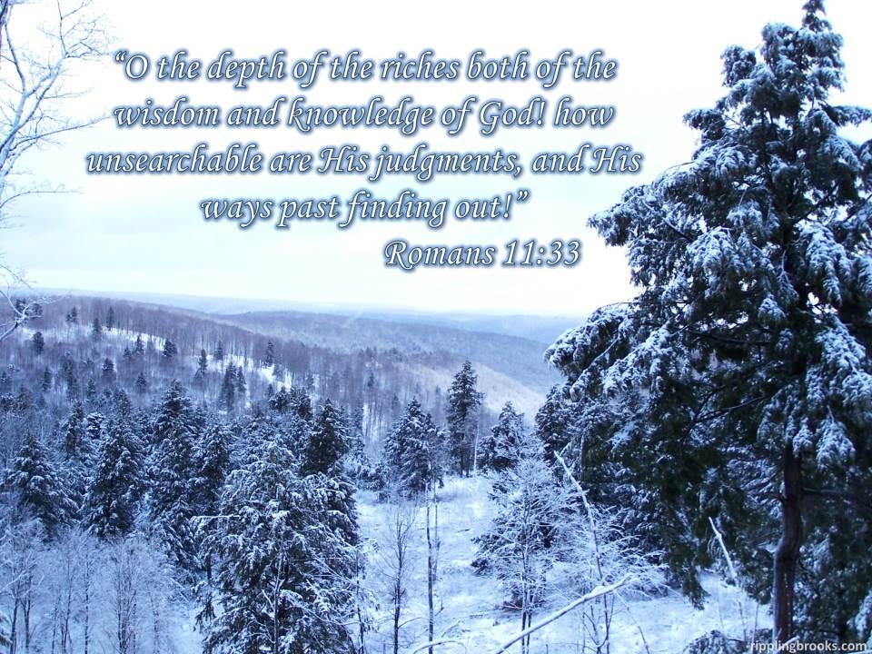 Romans 11:33