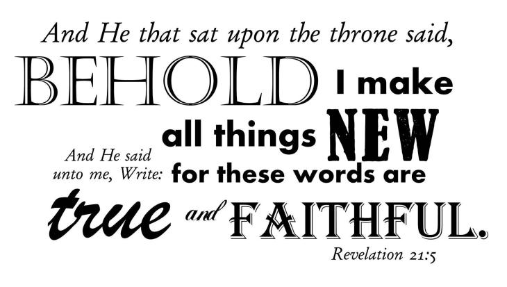 Revelation 21:5