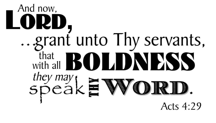 Acts 4:29 b