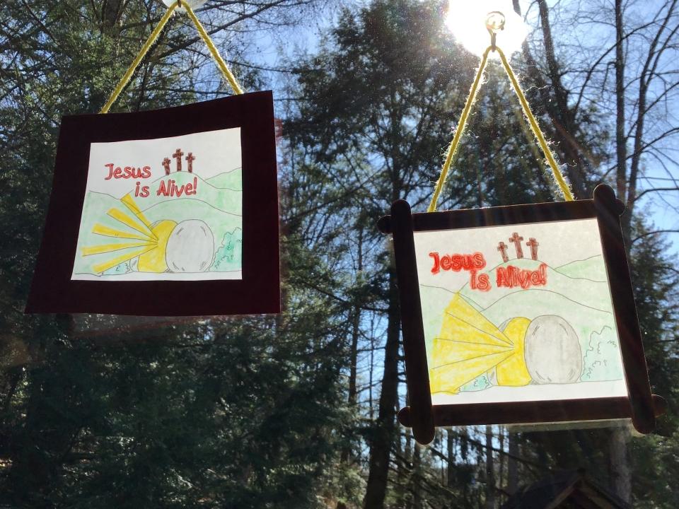 Easter suncatchers