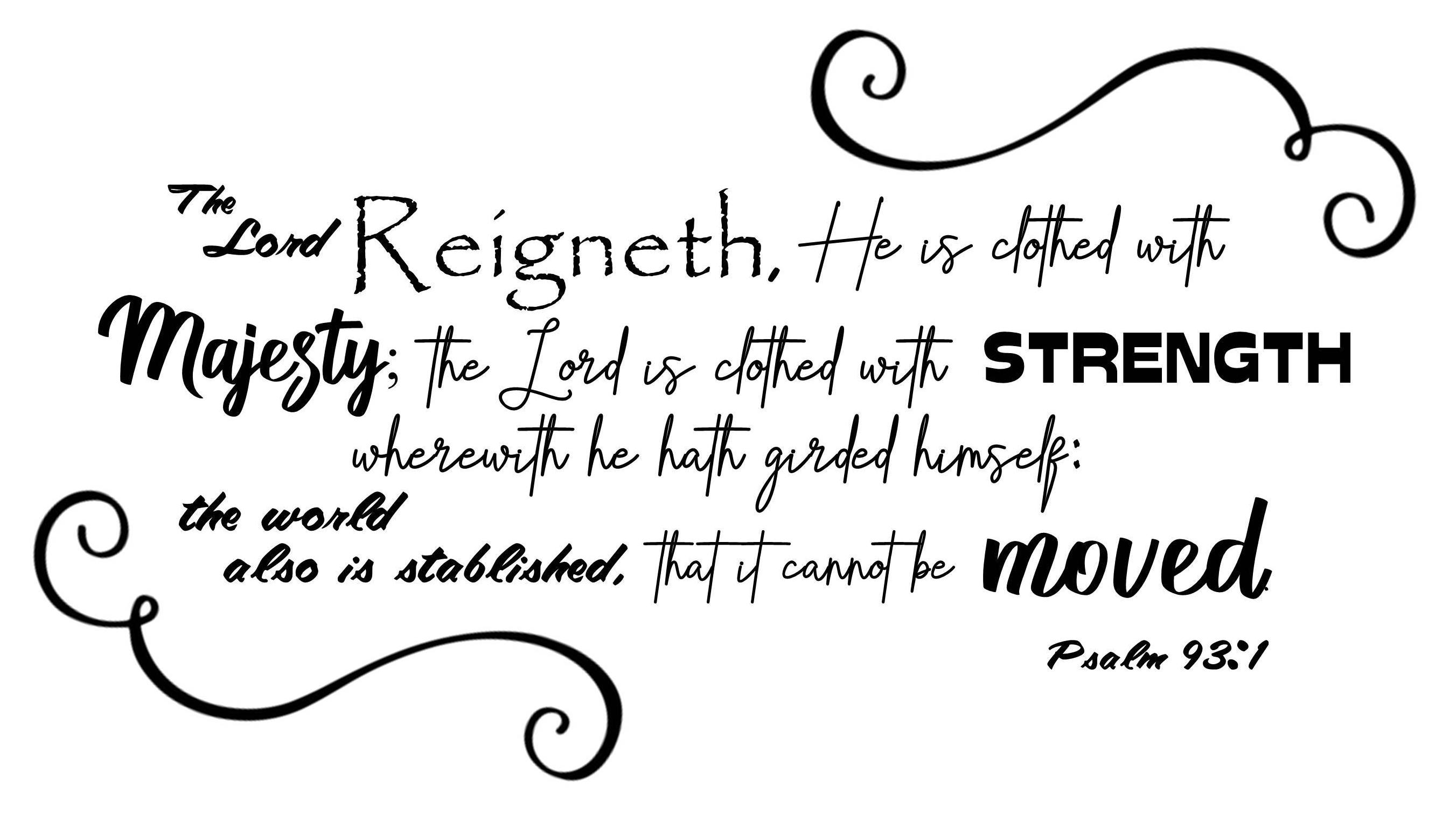 Psalm 93:1